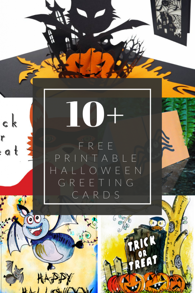 10+ Free Printable Halloween Greeting Cards