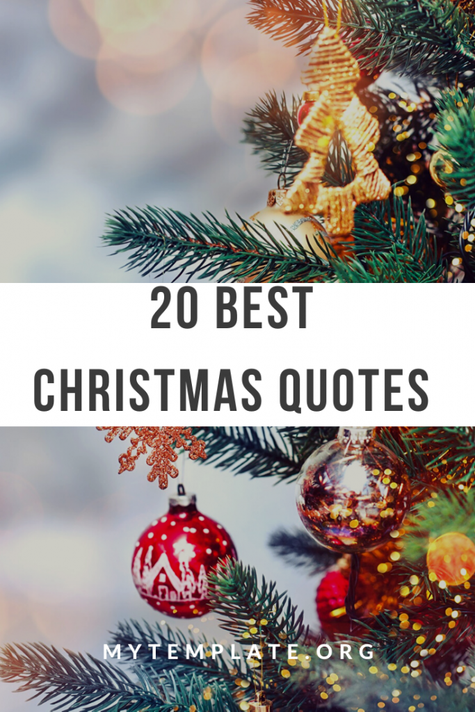20 Best Christmas Quotes