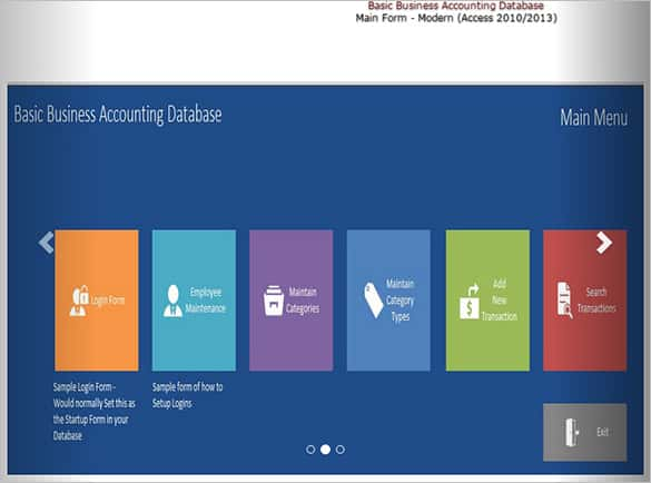 Basic MS Access Business Accounting Template