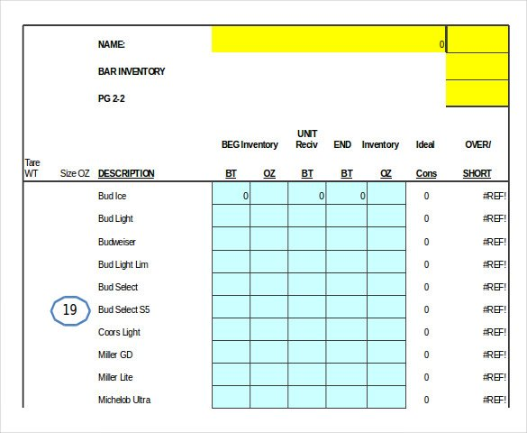 bar inventory bar inventory spreadsheet bar inventory excel bar inventory list bar inventory management