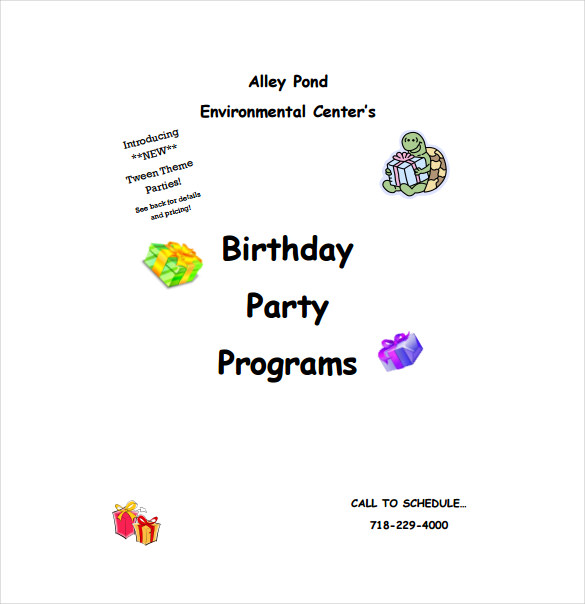 Birthday Program Template PDF Format