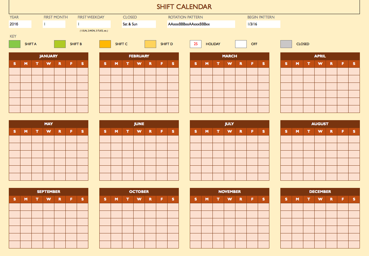 On Call Calendar Template from www.mytemplate.org