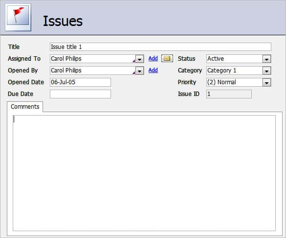 Company Inventory Access Database Template 2010
