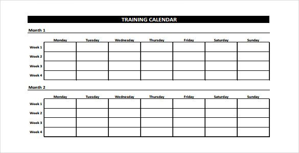 Fitness Log Template Format
