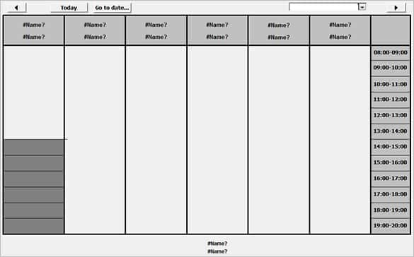Free Access Timetable Template 2010