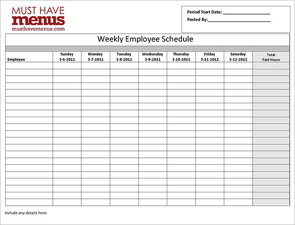 Hotel Employee Shift Schedule Template Download Free Templates