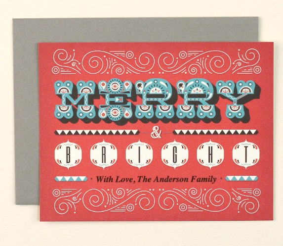 MERRY & BRIGHT HOLIDAY CARD PRINTABLE
