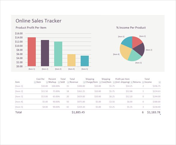 Online Sales Tracking Template Download