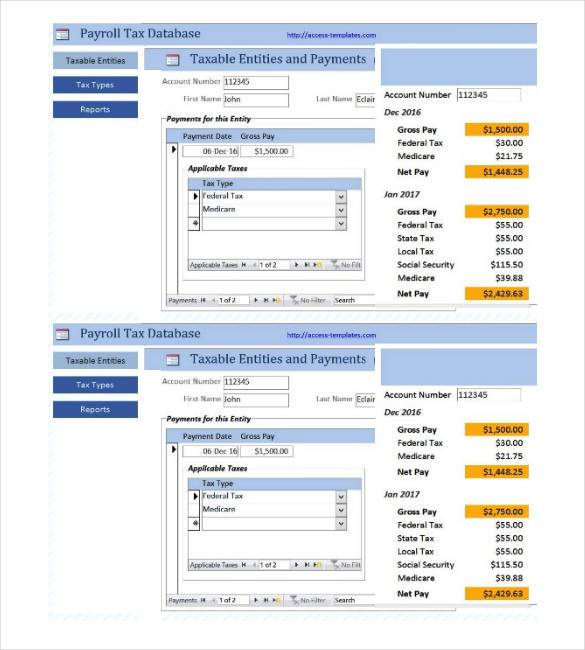 Small Business Payment Tax Database Access