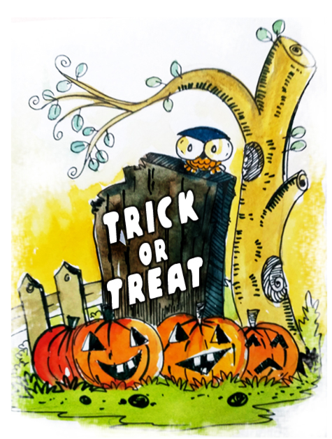Trick or treat helloween card