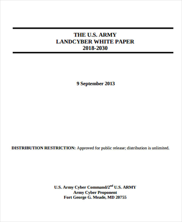 US Army Landcyber White Paper