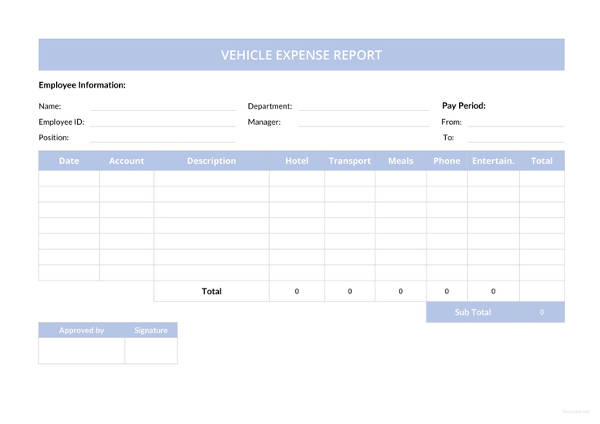 Vehicle Expense Report