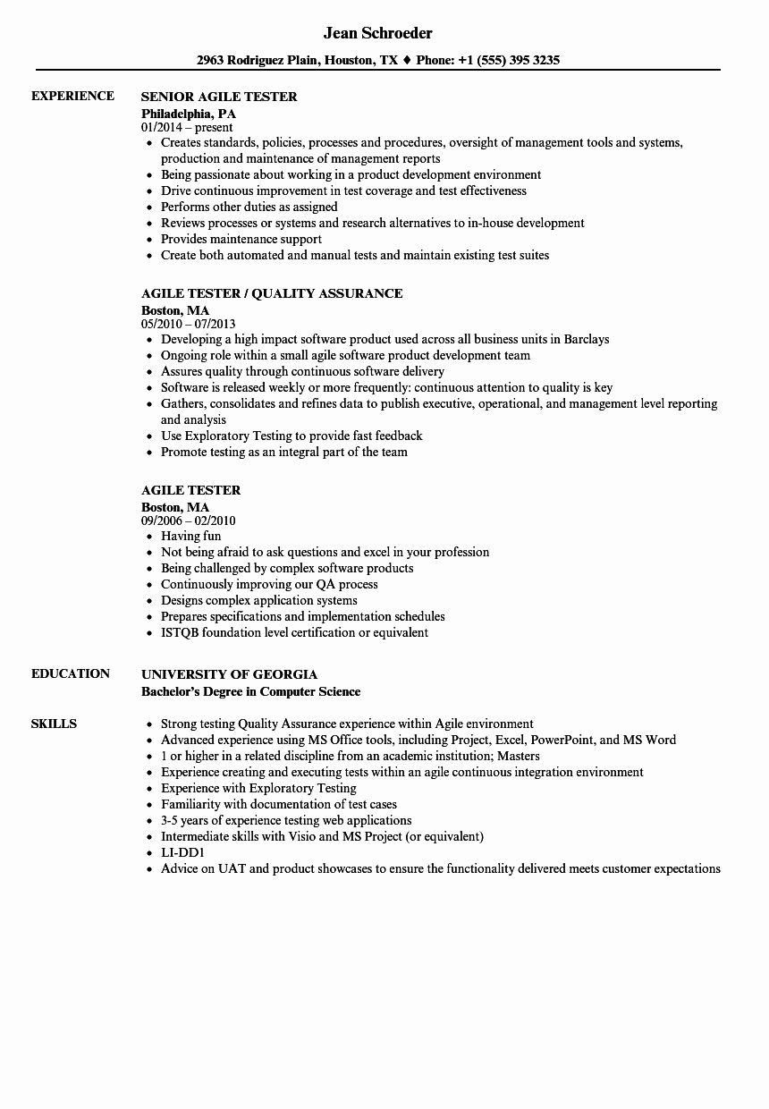 agile project manager resume of agile project manager