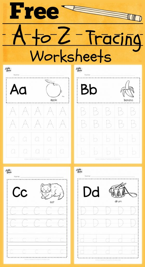 Alphabet Worksheets Classroom Of Download Free Alphabet Tracing Worksheets  For Letter A To Z Suitable For Preschool Pre K Or Kindergarten Class There  Are Two Layouts Available Tracing With Lines Or Free