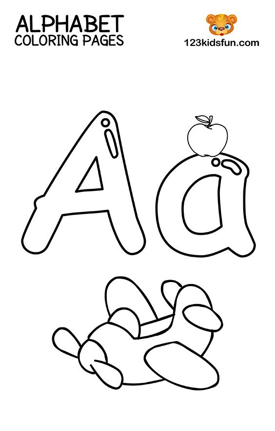 Alphabet Worksheets For Kids Coloring Pages Of Free Printable Alphabet  Coloring Pages For Kids - Free Templates