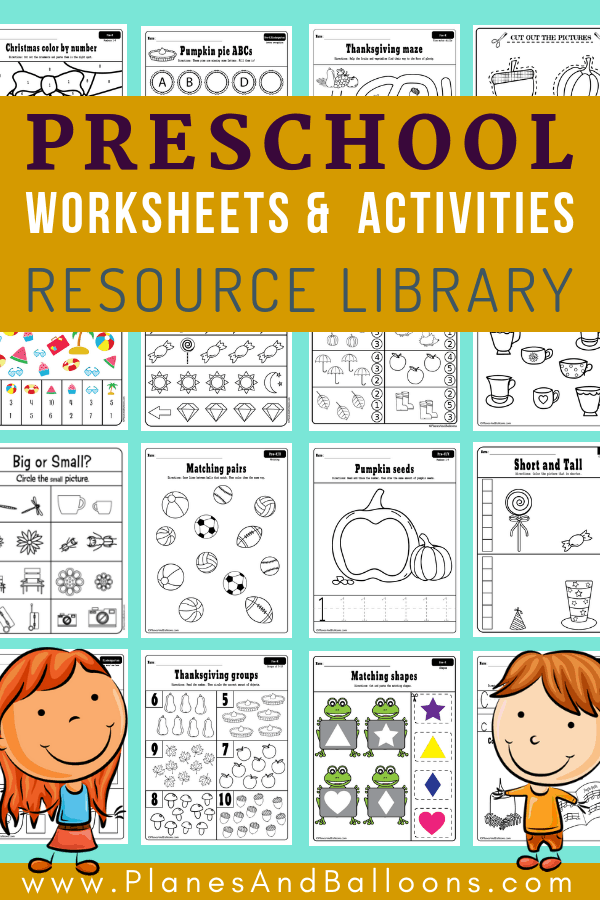 Alphabet Worksheets Fun Of 400 Free Preschool Worksheets In Pdf Format To  Print Planes & Balloons - Free Templates