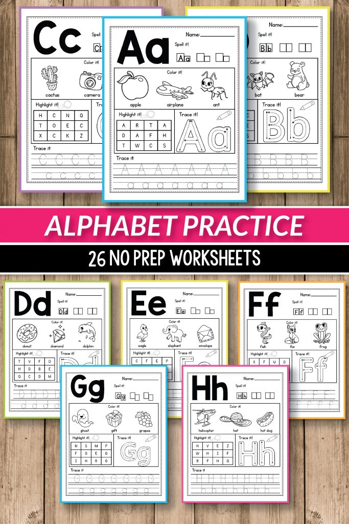 Alphabet Worksheets Primary Of Alphabet Printable Activities For Preschool  And Kindergarten These Pack Of Worksheets Will Make Teaching And Practice  English Uppercase And Lowercase Letters Much Easier Your Students Will Have  So