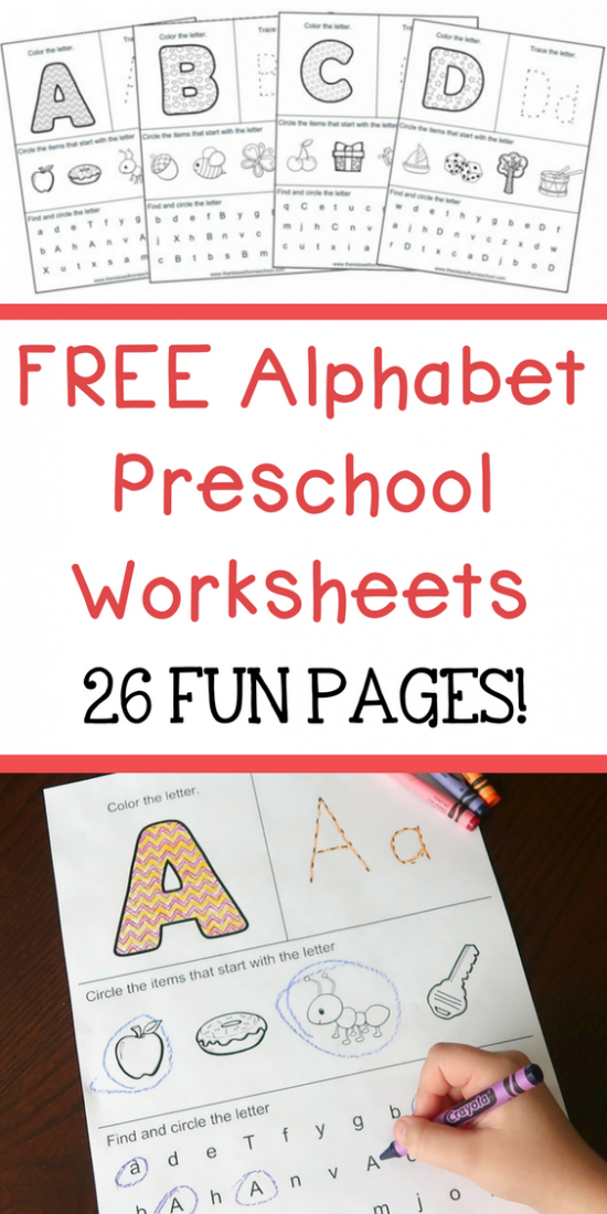 Alphabet Worksheets Toddler Of Free Alphabet Preschool Printable Worksheets  To Learn The Alphabet - Free Templates