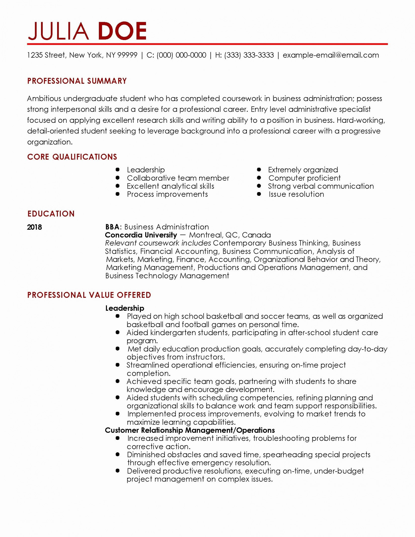 Beginner First Job Sample Resume Of 13 Newbie Job Utility Resume Pattern