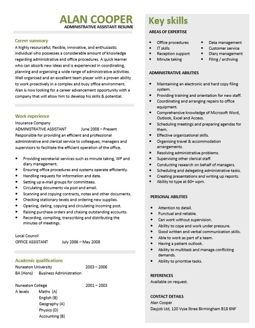Best Administrative assistant Resume Of 15 Free Administrative assistant Resume Calypso Tree