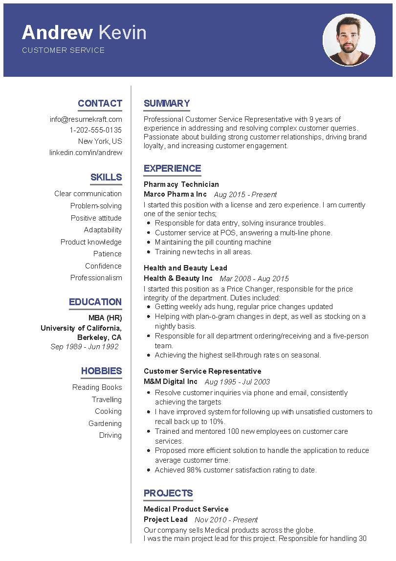 Best Way to format A Resume Of Customer Service Sample Resume
