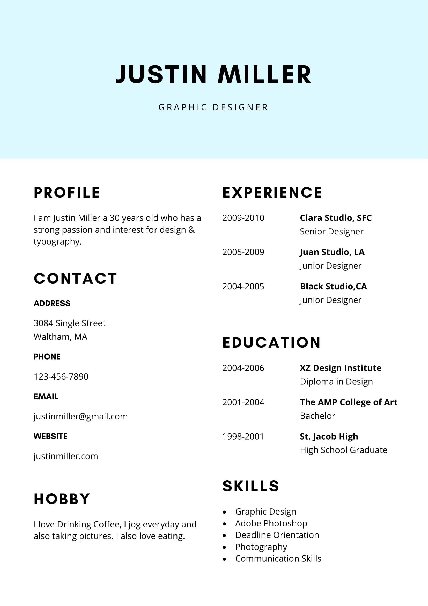 Best Way to format A Resume Of Free Clean and Elegant Resume Template In Ms Word format