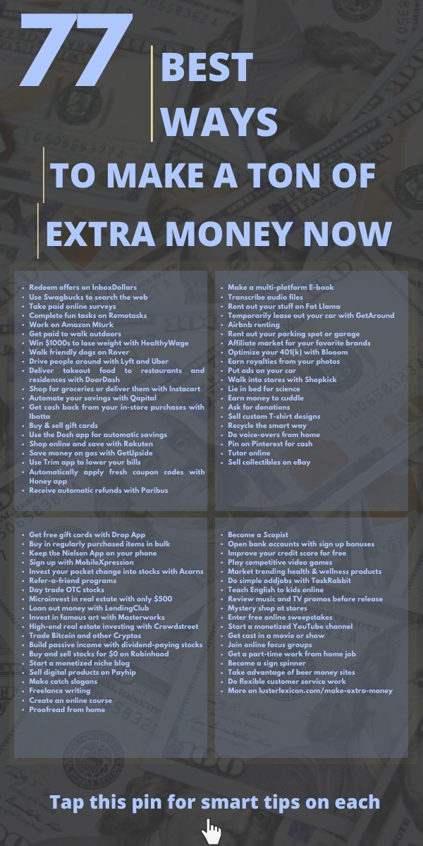 Best Way to Get A Job Of 77 Best Ways to Make A ton Of Extra Money now