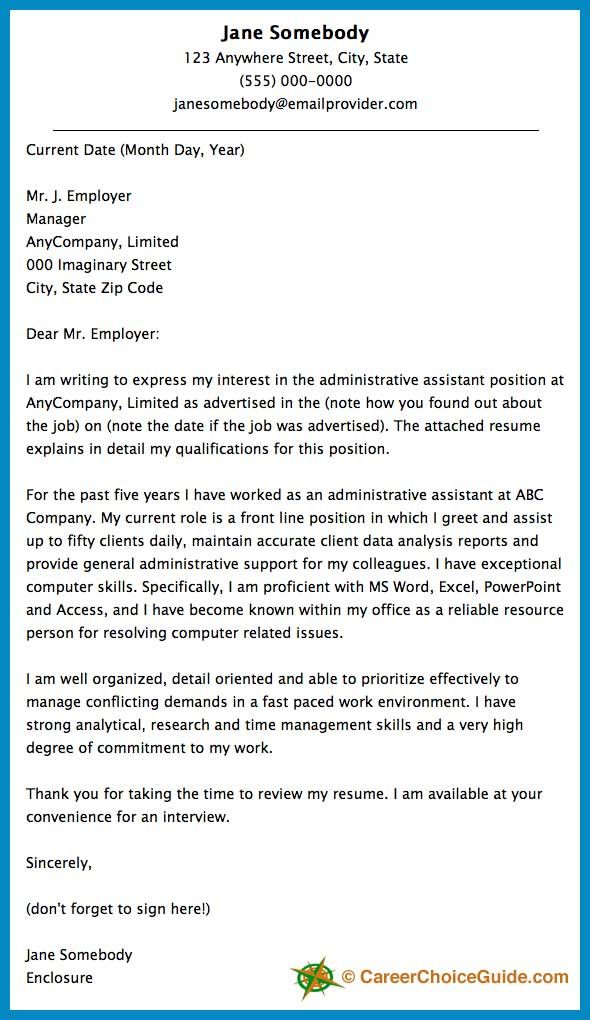 Cover Letter for Executive assistant Position Of Cover Letter Sample