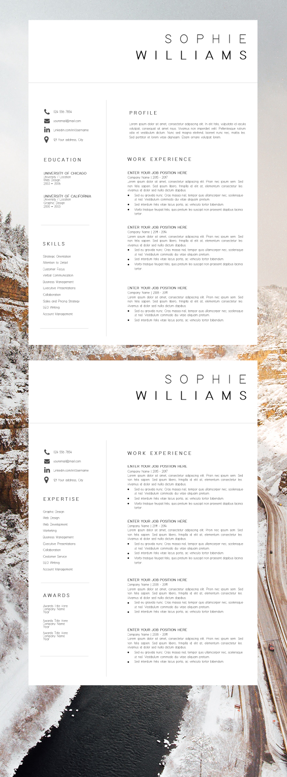 Cover Letter for Executive assistant Position Of New Cv Template Resume Template Minimalist Professional Cv Design Resume Template Instant Download Word