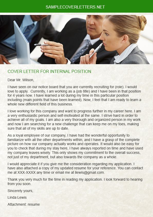 Cover Letter for Manager Position Of