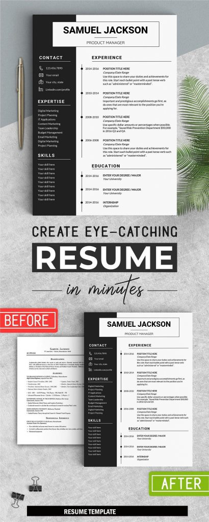 1 Page Resume Format from www.mytemplate.org