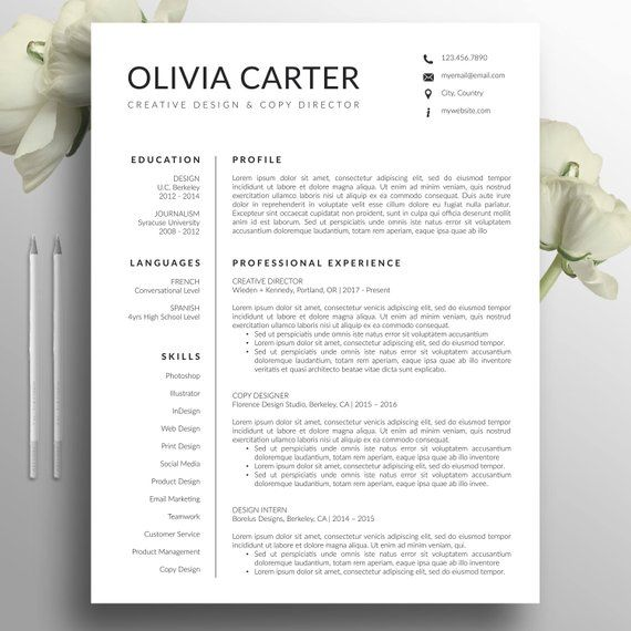 cover letter template creative of modern resume template