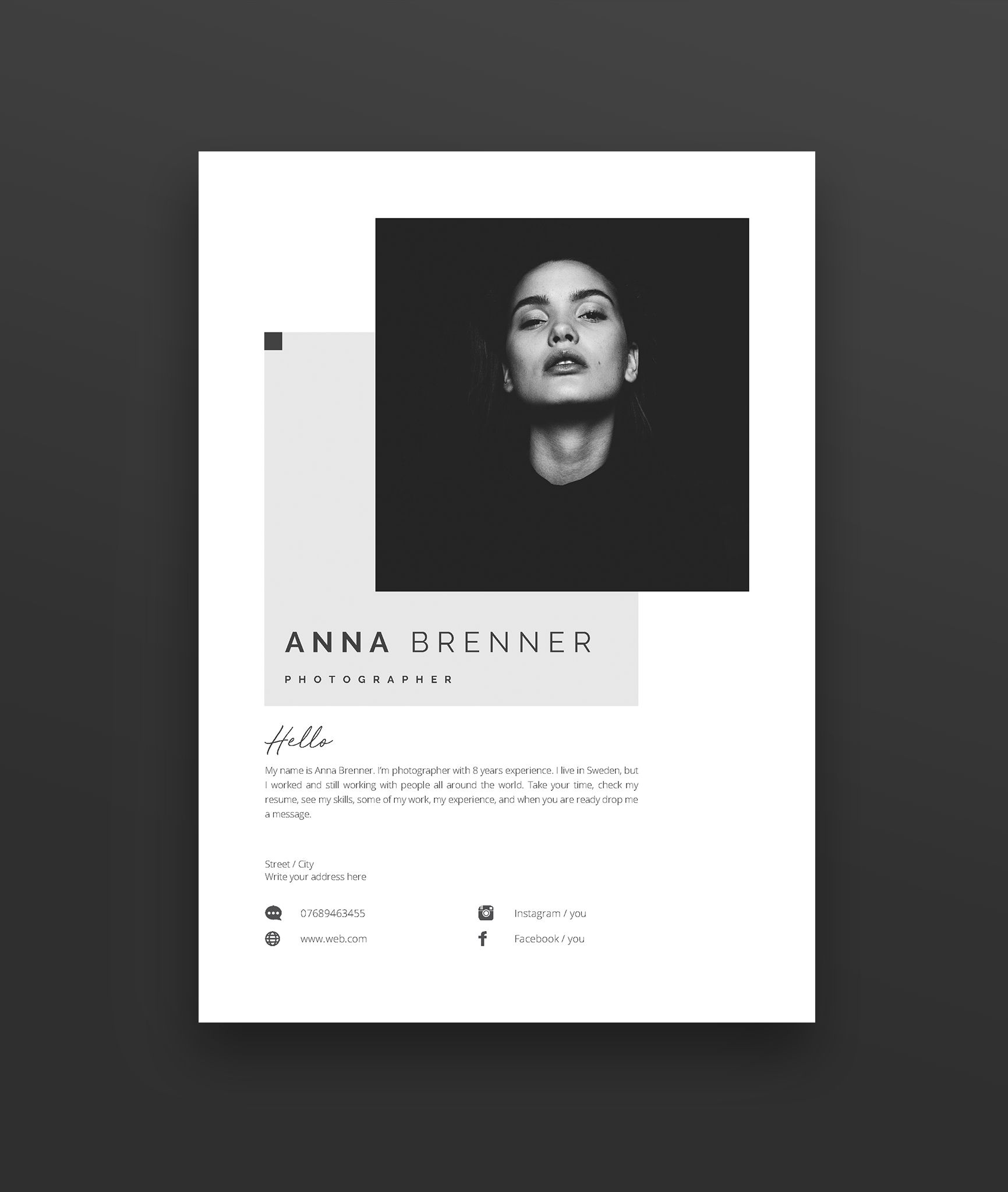 Cover Letter Template Free Modern Of Cv Resume Template