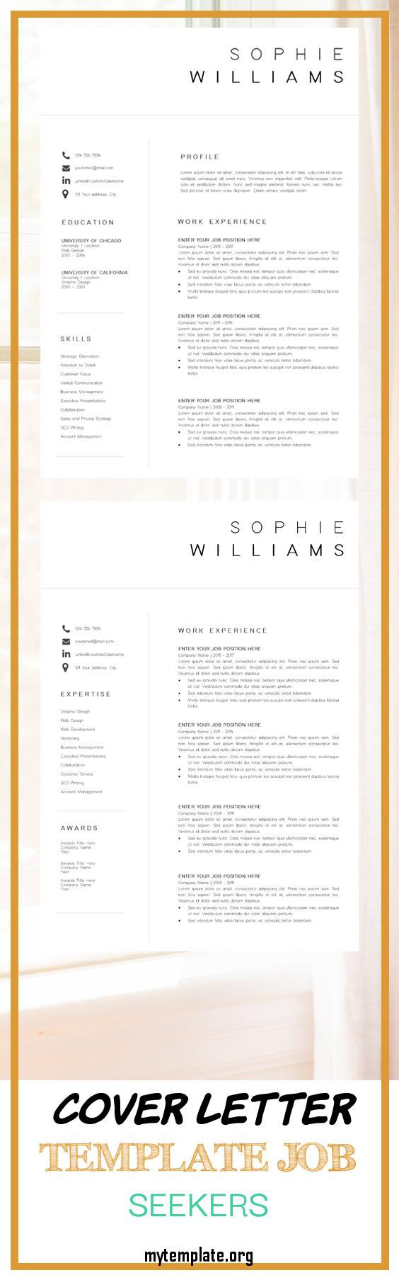 cover letter template job seekers of new cv template