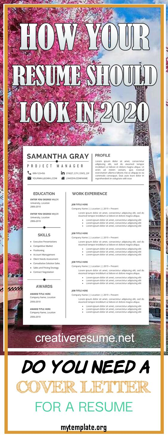 do you need a cover letter for a resume of resume template