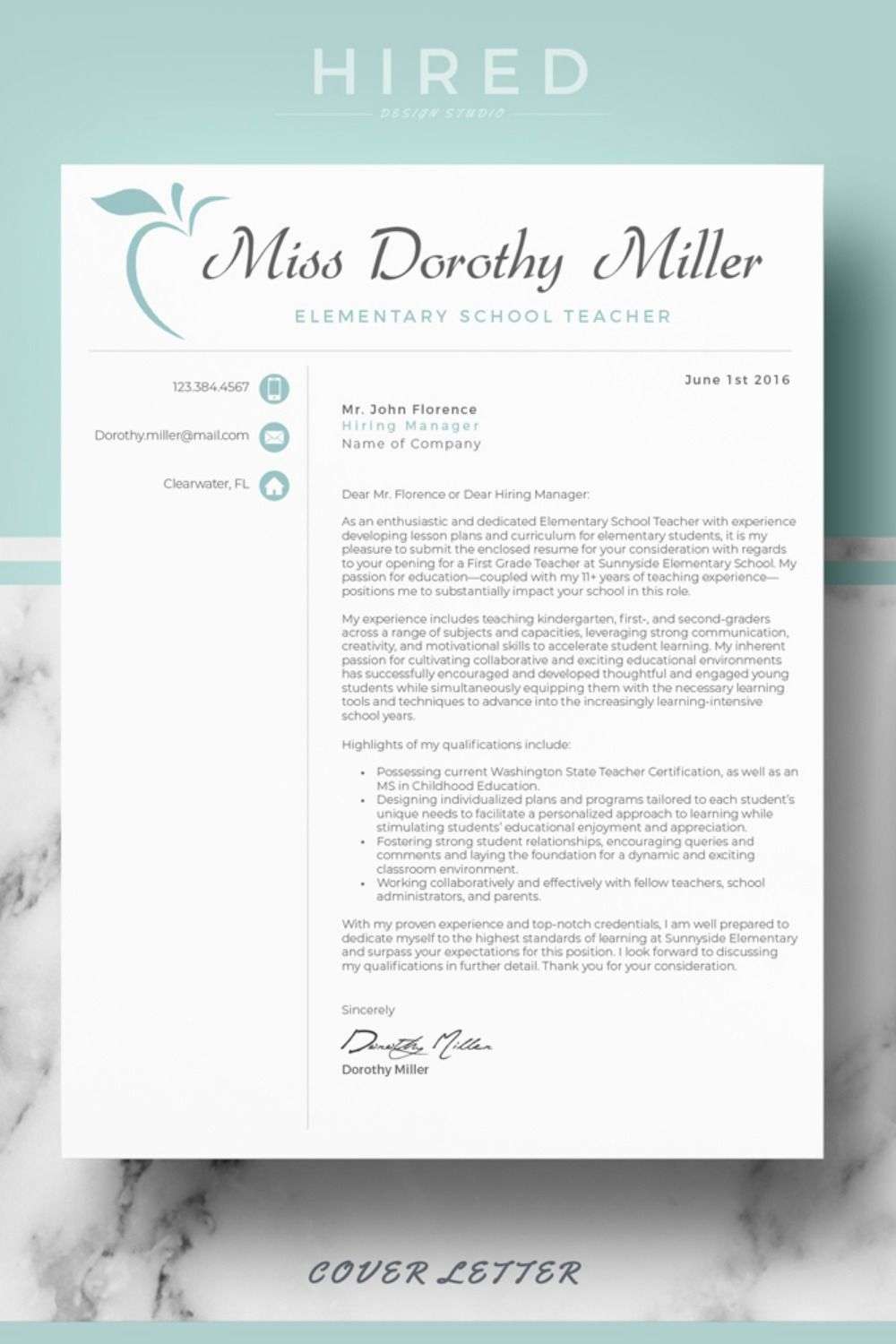 Email for Resume and Cover Letter Of Cover Letter format for Elementary Teacher Cv Resume Template Layout References Page