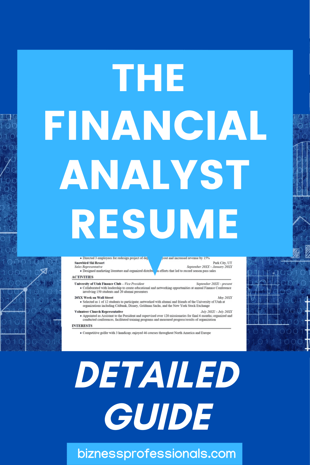 Financial Analyst Skills Resume Of the Financial Analyst Resume Detailed 2020 Guide