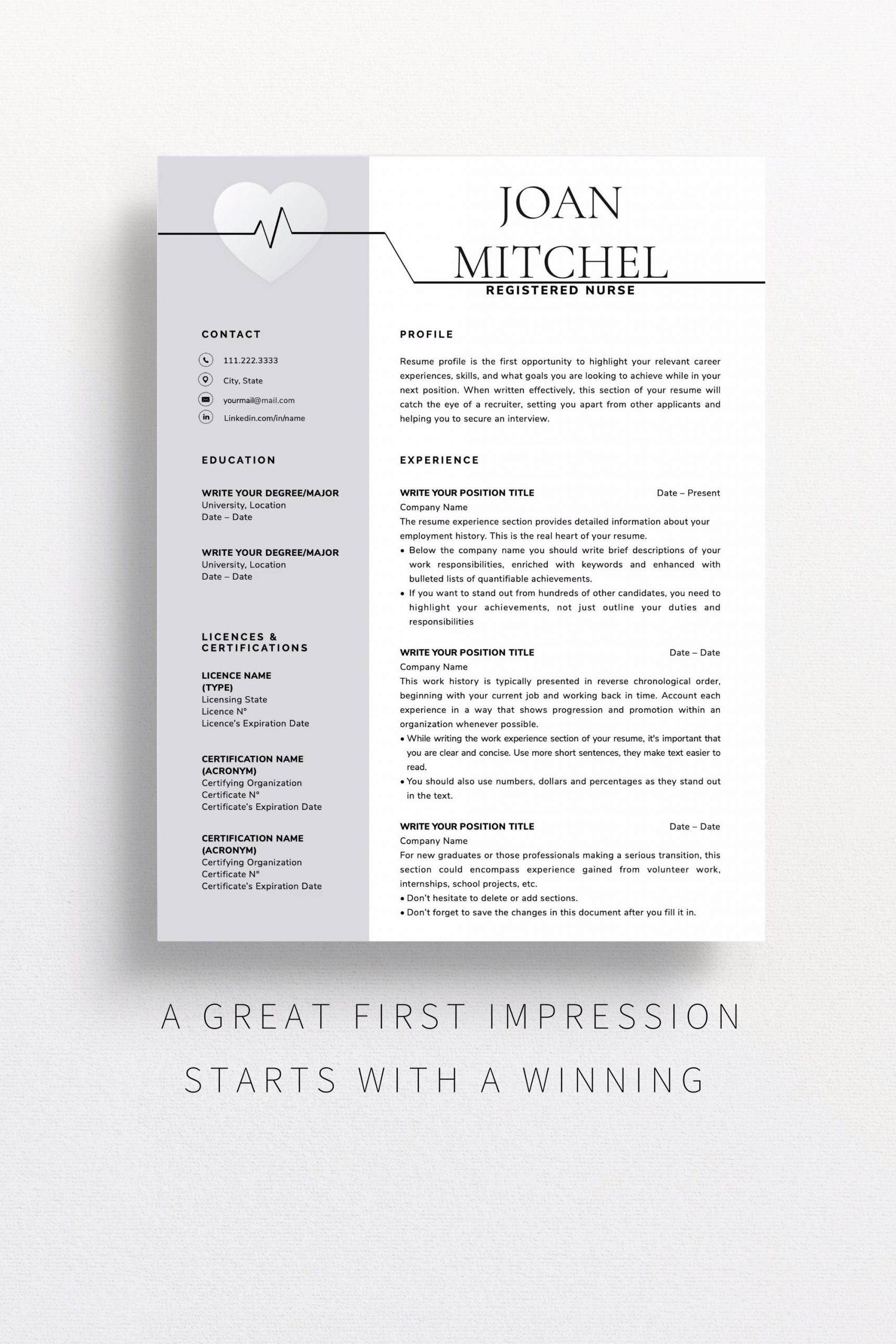 Free Functional Resume Template Of Creative Nurse Resume Template Simple Nursing Resume Template for Word Clean Medical Resume Rn