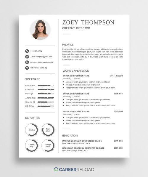 Free Functional Resume Template Of Download Free Modern Resume Template for Shop
