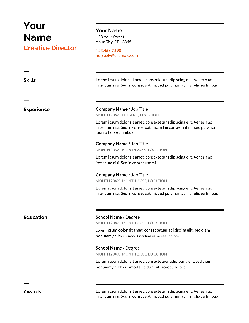 Free Functional Resume Template Of Google Docs Resume Templates 13 Free Examples