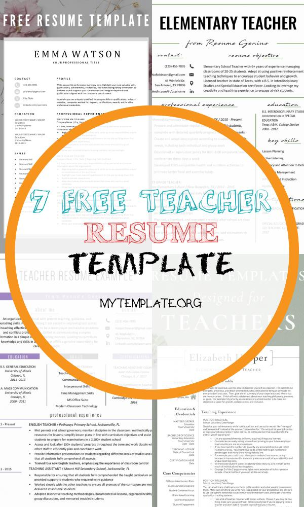 free teacher resume template of looking for a free