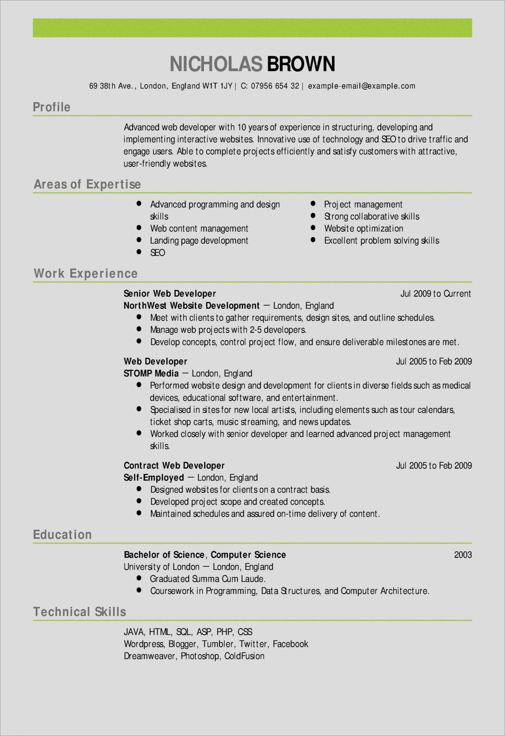 free teacher resume template of puter science student