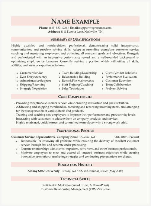 Good Resume Summary Examples Of 49 Example Customer Service Resume Summary Examples Image