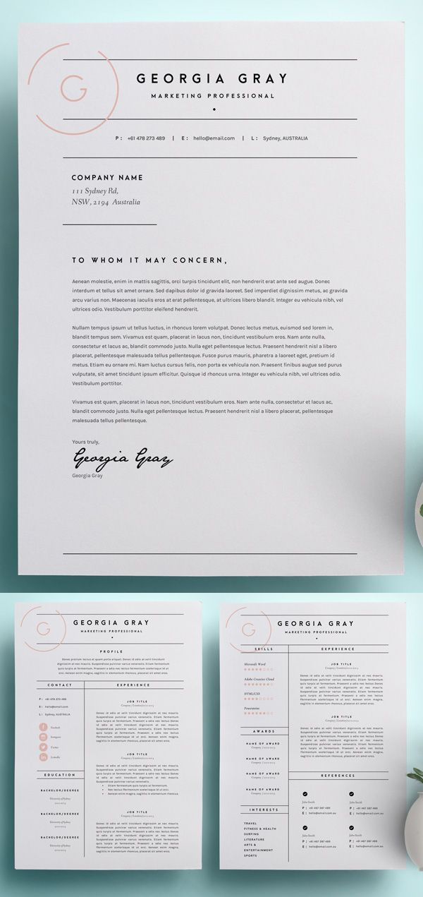 How to Email Resume and Cover Letter Of 50 Best Resume Templates for 2018 1