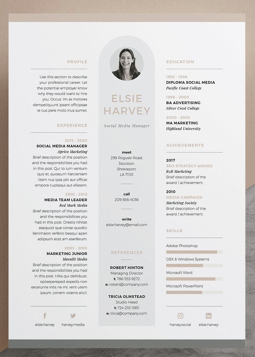 How to Email Resume and Cover Letter Of Resume Cv Template Elsie Our Design 'elsie' Contains A Professional Pact Design with Matching Cover Letter for Those Looking for A High Impact Presentation Everything is Editable Including Fonts and Colors so Be Sure to Personalize to Suit Your Needs Move and Duplicate Elements and Make the Design Your Own