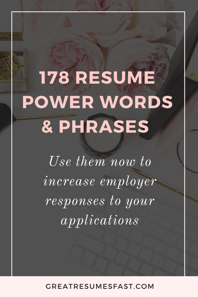Meaning Of Resume In Job Application Of 178 Resume Power Words & Phrases