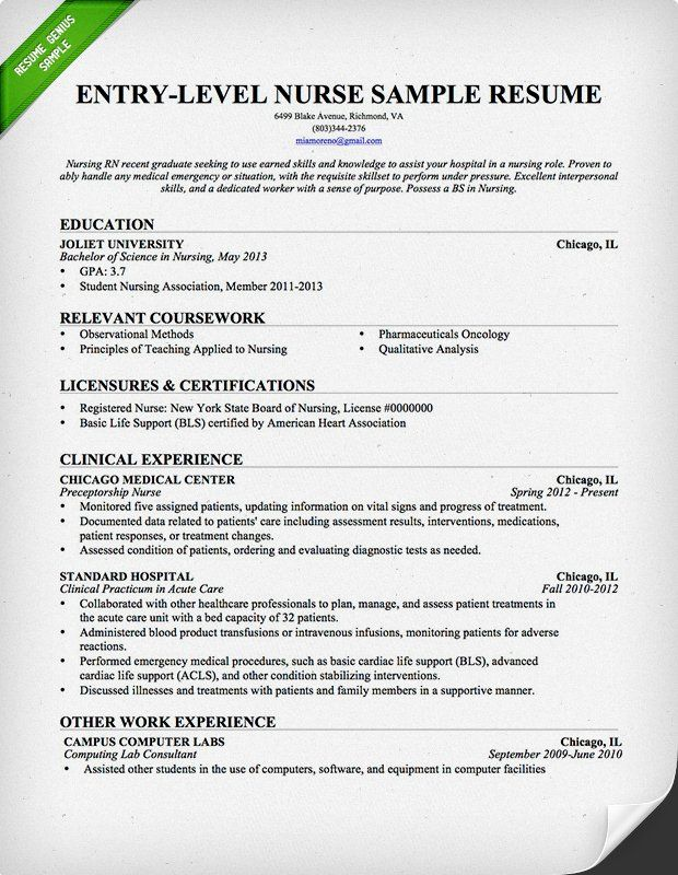 Professional Nursing Resume Examples Of Nursing Resume Sample & Writing Guide