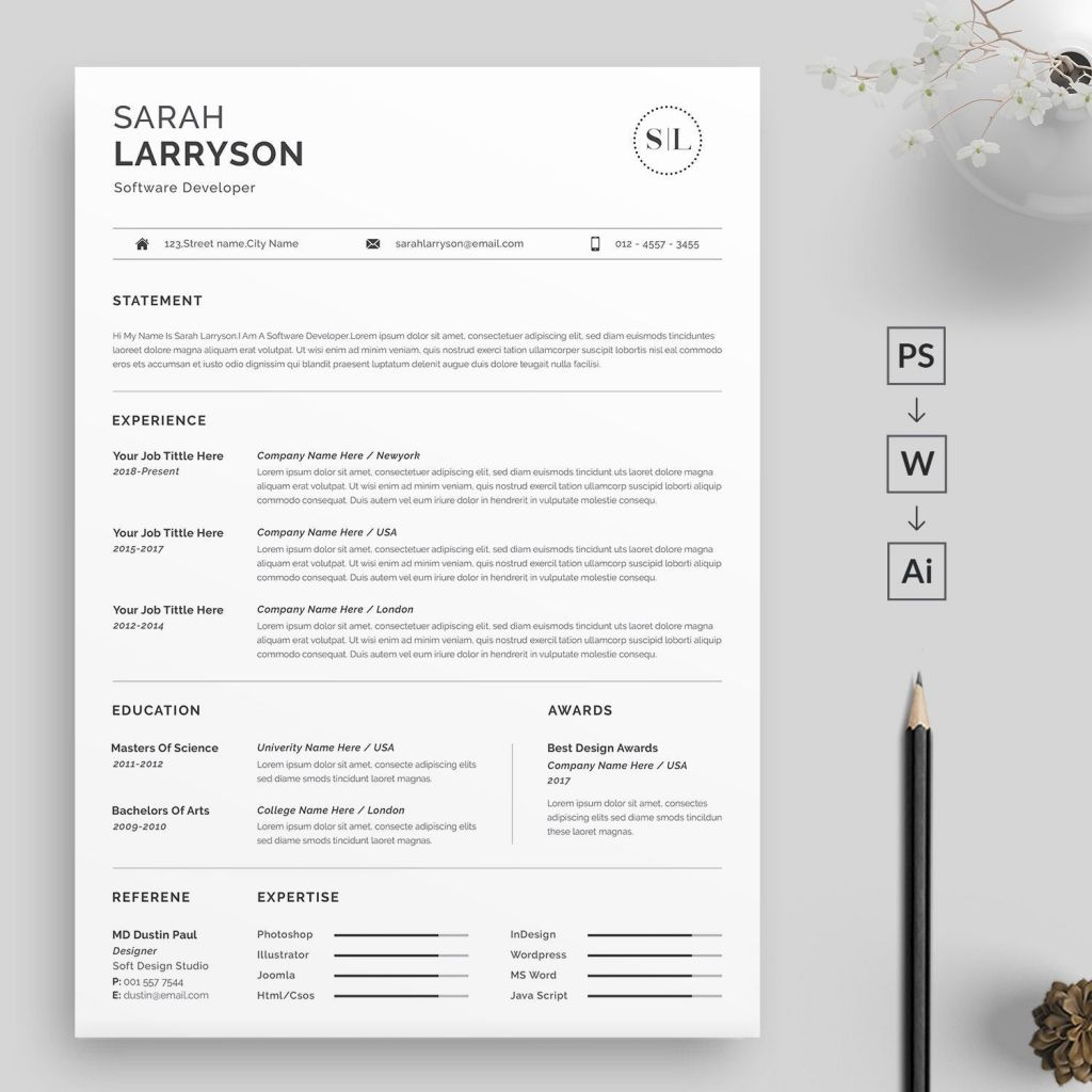 Professional Resume Templates Of Professional Resume Template Resume Template Cv Template Resume Template Word Creative Resume Template