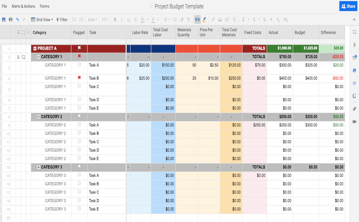 10  top excel budget templates free download