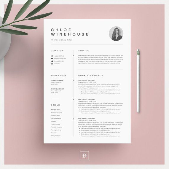 Resume Cover Letter Examples Of Resume Template Resume Template Word Resume with Picture Cv Cv Template Resume with Cover Letter Professional Resume Template Resume